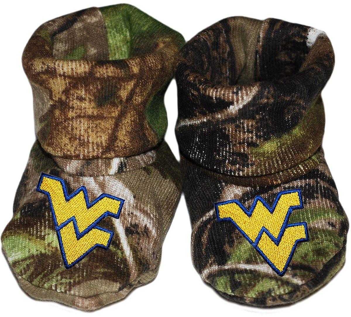 West Virginia University Newborn Baby Booties Sock
