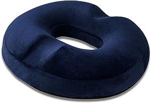 HOMCA Donut Pillow Hemorrhoid Seat Cushion for Office Chair - Premium Memory Foam Chair Cushion, Sciatica Pillow for Sitting Tailbone Pain Car Seat Cushions, Blue
