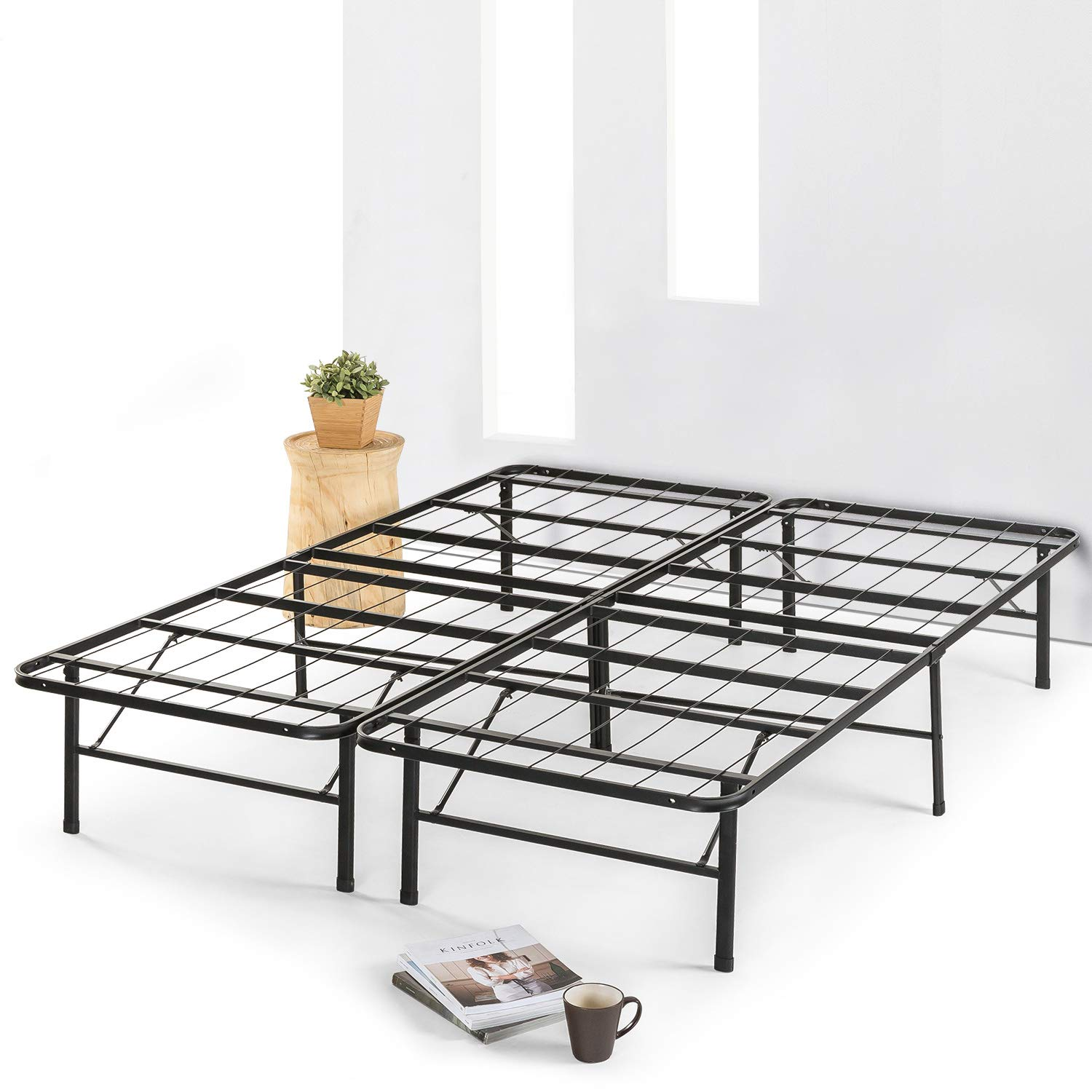 Best Price Mattress Twin Frame-14 Metal Mattress Foundation with Steel Slats for Platform Bed Frame No Box Spring Needed , Twin, Black