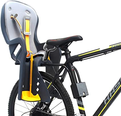 LIANWANG Child Bike Seat Adjustable Kids Front Bike Seat Child Bicycle Safety Chair for 1-6 Year Kids