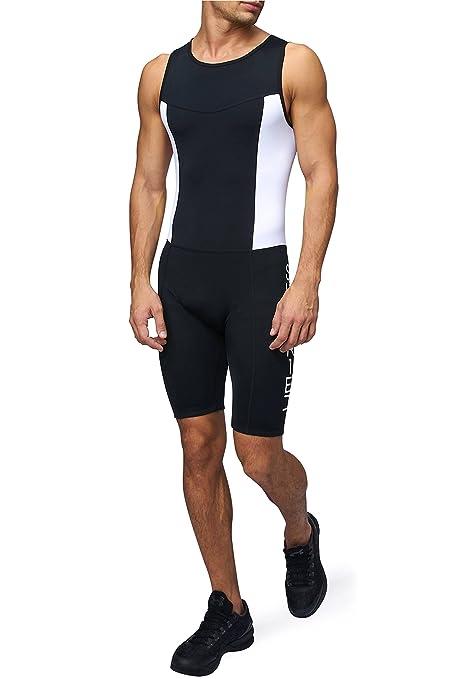 9 opinioni per Body Triathlon Uomo, imbottita, a compressione, duathlon, body da corsa, nuoto e