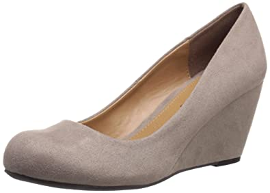 CL by Chinese Laundry Women's Nima Wedge Pump, Dark Taupe Super Suede, ...