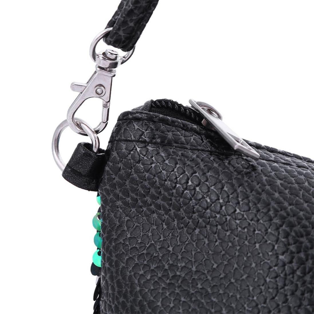 ZYooh Fashion Women Girls Handbag Sequins Tote Purse Messenger Phone Holder Bag Crossbody Shoulder Bags (Green) by iLH_ Crossbody Bag (Image #6)
