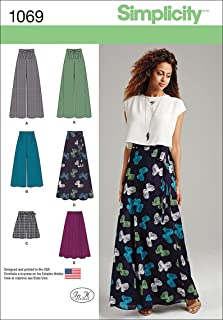 product image for Simplicity 1069 Wide Leg Pants, Shorts, and Maxi Skirt Sewing Pattern for Women, Sizes 4-12