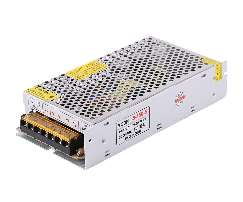 COLM 5V 20A 100W AC//DC Alimentation /à D/écoupage AC 110V 220V /à DC 5V 100W Transformateur Adaptateur Chargeur pour Bande Lumineuse LED