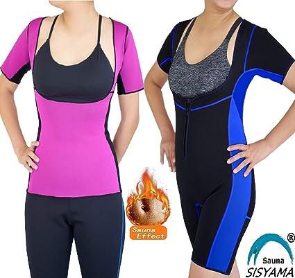 a295f68544 Sisyama Open-Bust Sauna Hot Suit Weight Loss Workout Exercise Fitness Shaper  Shapewear (Aqua