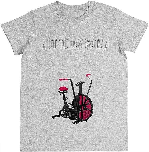 Rundi Not Today Satan Air Assault Bike Crossfit Shirt Unisexo Niño Niña Camiseta Gris Los Tamaños Unisex Kids Boys Girlss T-Shirt Grey: Amazon.es: Ropa y accesorios