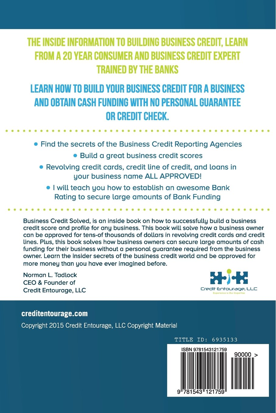 Amazon business credit solved build business credit quickly amazon business credit solved build business credit quickly 9781543121759 norman l tadlock books colourmoves