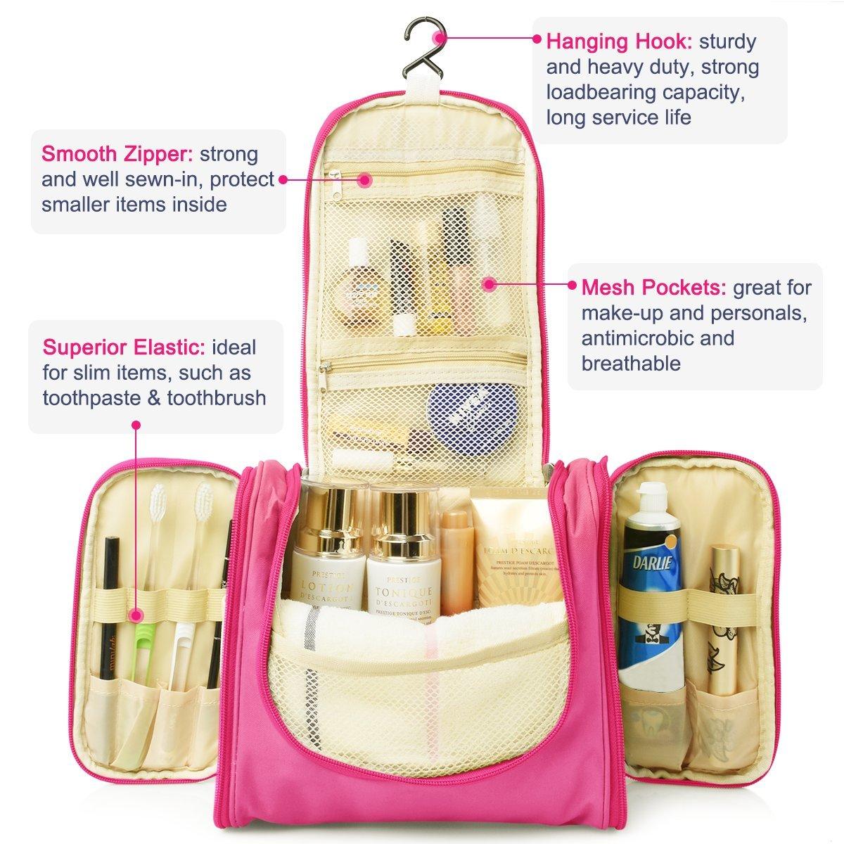 Heavy Duty Waterproof Hanging Toiletry Bag Travel Cosmetic Makeup Cosmetics Make Up Organizer For Women Shaving Kit