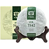 TAETEA 7542 Classic Raw Pu-erh Tea, Aged Fermented Puerh Tea Cake, Chinese Sheng Pu'er Tea Black Tea for Daily Drink and Gift