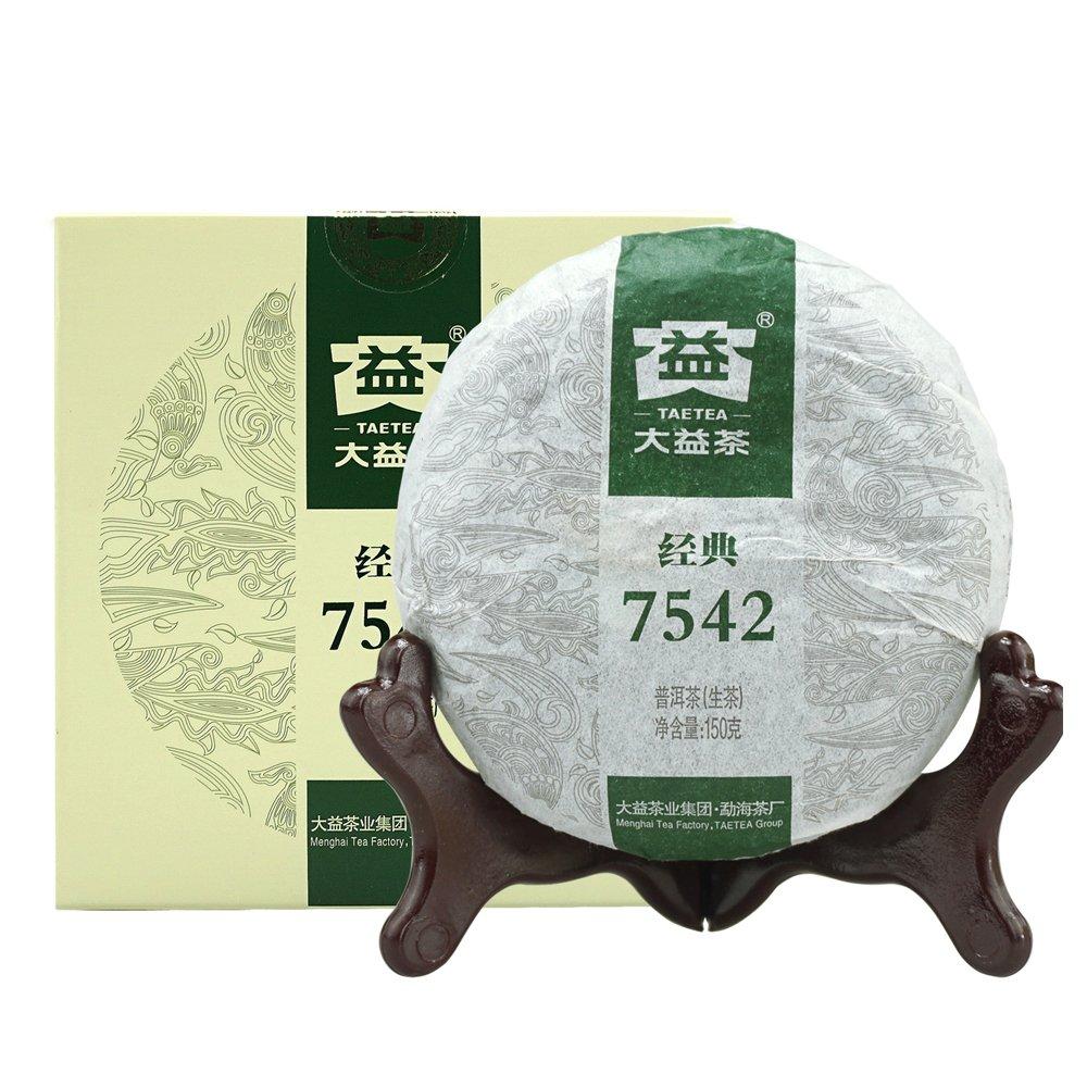TAETEA Classic 7542 Organic Black Tea Raw PU'ER TEA 150 Grams