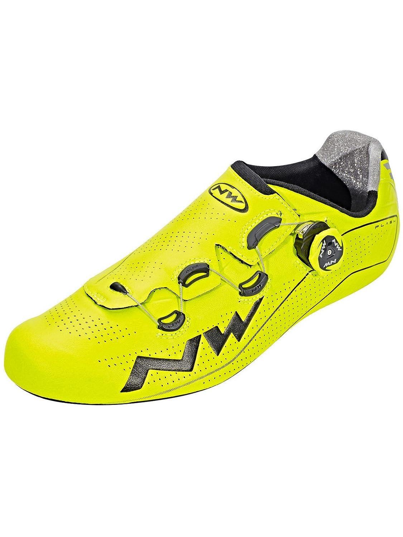 Northwave Flash Rennrad Fahrrad Schuhe gelb schwarz 2018