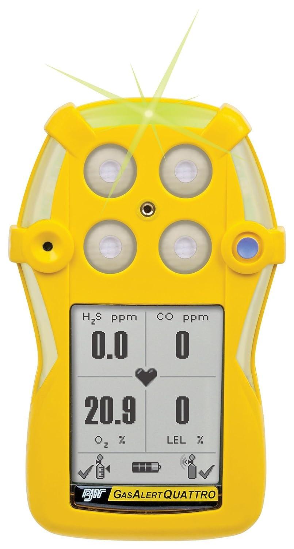 BW GasAlertQuattro 4-Gas Detector (%LEL, O2, H2S, CO), Alkaline - QT-XWHM-A-Y-NA: Amazon.com: Industrial & Scientific