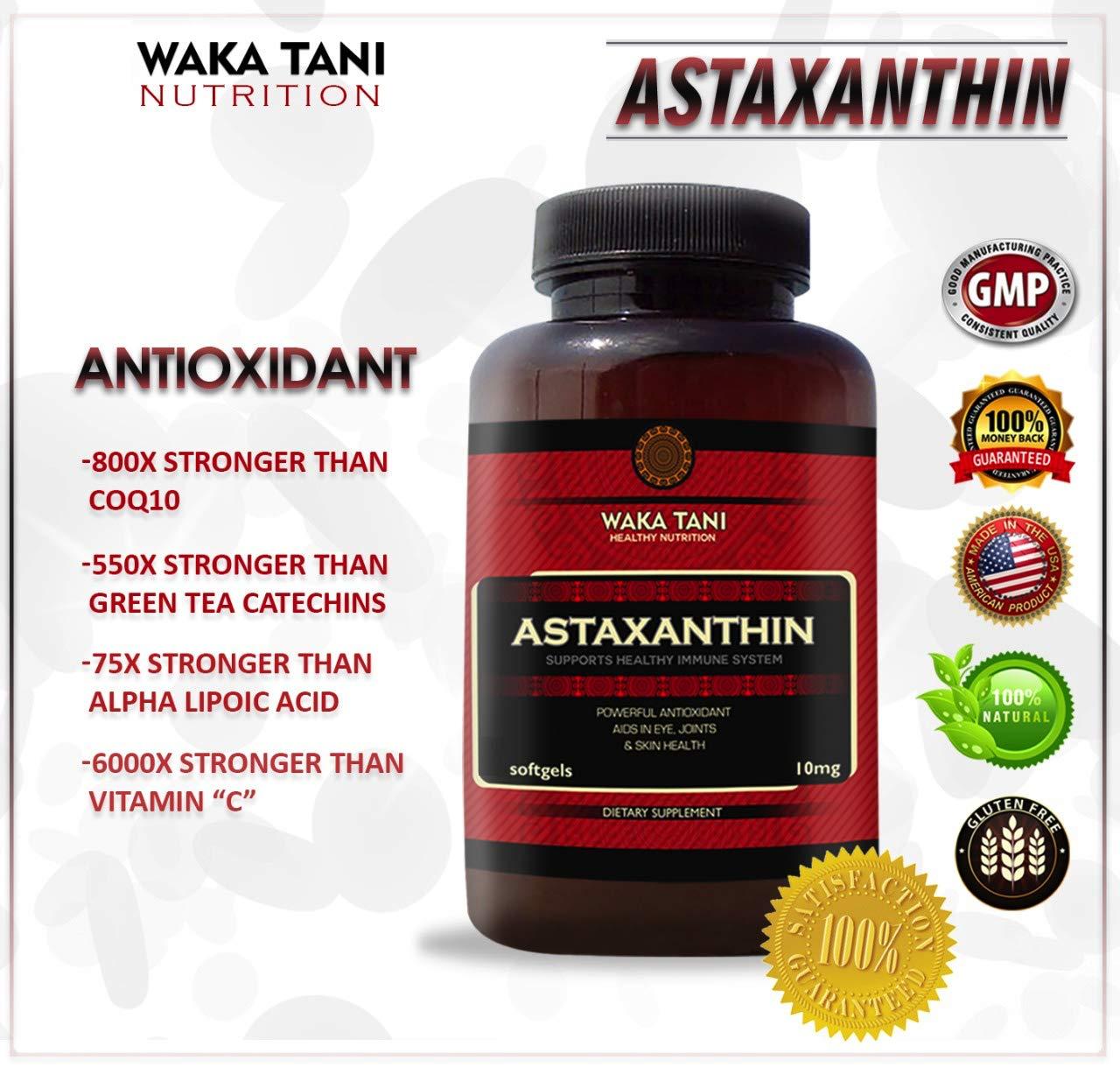 Astaxanthin 10mg 120 Softgels. Powerful Antioxidant & Anti-inflammatory Keto Carotenoid. Natural Algae Supplement. Recommended for: Skin, Joint, Brain, Eye, Cardiovascular & Immune System.