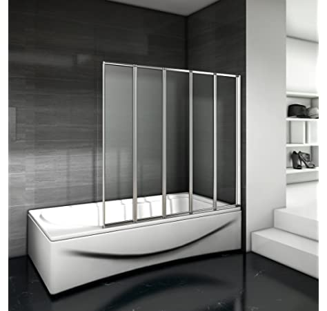 Mampara de bañera/ducha, de cristal, serigrafiada, 140 (alto) x ...