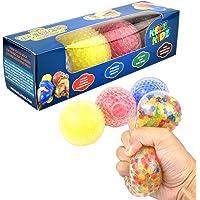 KELZ KIDZ Texturodos Textured Sensory Water Bead Balls - Durable Large Stress Ball Toy Set for Kids and Adults (4 Pack…