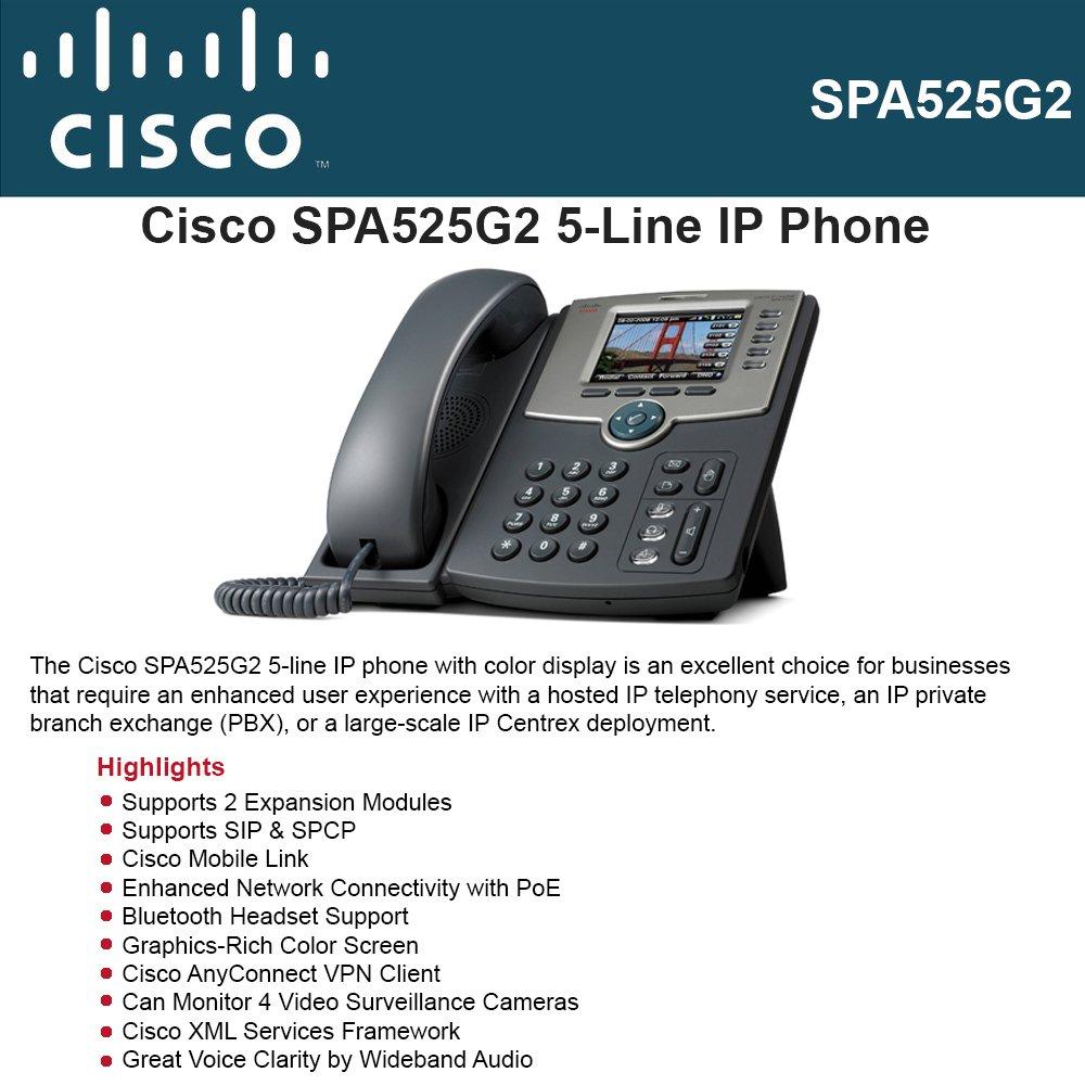 Amazon com: CISCO SPA525G2 Cisco IP Phone SPA525G2, 5 Line