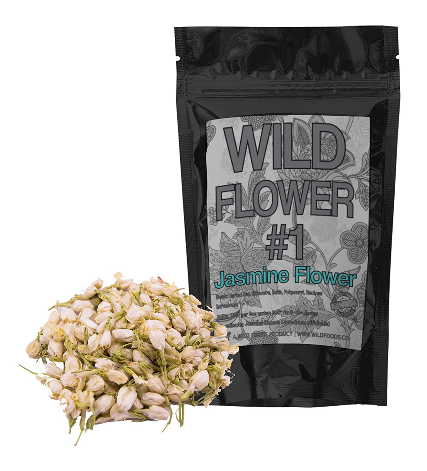 Amazon dried jasmine flowers perfect for homemade tea amazon dried jasmine flowers perfect for homemade tea potpourri bath salts gifts crafts wild flower 1 4 ounce home kitchen dhlflorist Gallery