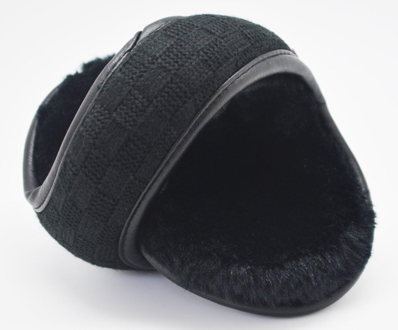 Unisex Winter Foldable Earmuffs Back Worn Stylish Cozy Ear Warmers Woolen Classic Plaid Gifts Treat/® Ear Muffs
