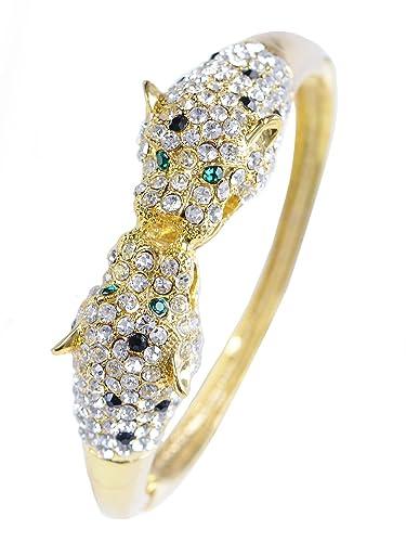 6568395dd589c Amazon.com: Alilang Golden Toned Black Emerald Clear Crystal ...
