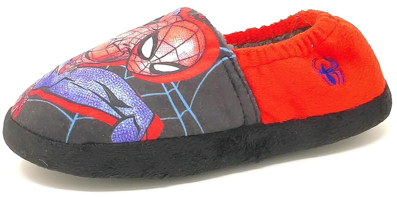 Pantofole da Bambino a Forma di Spiderman Taglia 40-42 Colore Rosso e Nero