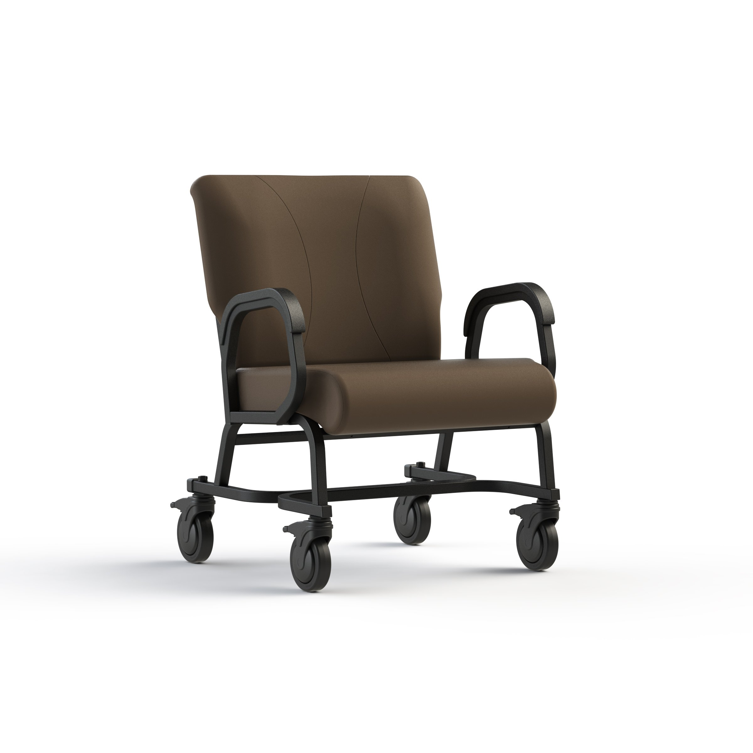 """Bariatric office chair with four locking casters (5"""" dia.), 24'' wide, rated for 600 lbs."""