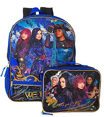 22a9b2617be Amazon.com  Disney Descendants 2 Girls Bookbag School Backpack Lunch Box  SET  Toys   Games