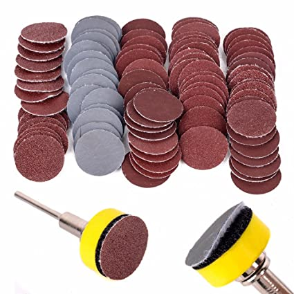 Business, Office & Industrial Supplies Industrial Power Tools 1 Hook & Loop DISC Sanding Pad Kit With 100pcs Sand Paper for Rotary Tools