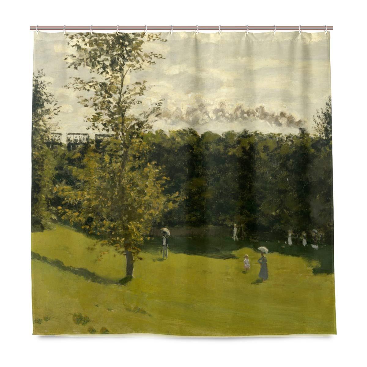 Rideau de Douche Imperméable Antimoisi pour Salle de Bain avec 12 Crochets