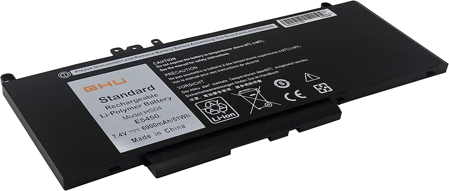 New GHU G5M10 51 Wh Battery (6-Cells) Compatible with Dell Latitude E5550 E5450 E5570 Notebook 15.6 inch fits 0WYJC2 8V5GX R9XM9 RYXXH WYJC2 1KY05 7.4V 51WH