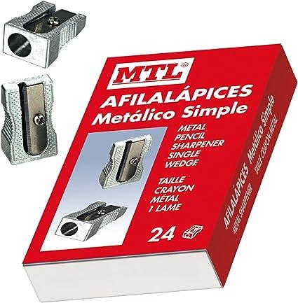 MTL 79565 - Caja afilalápices de aluminio, 24 unidades: Amazon.es: Oficina y papelería