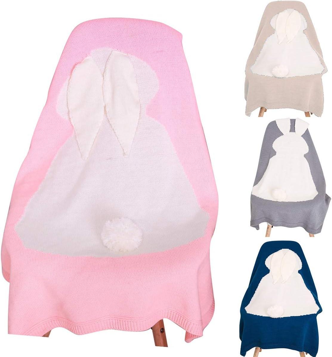 F La Cabina Blanket B/éb/é Blanket Peluche Warm Impression Lapin Mignon Couvertures B/éb/é Petite Couverture de S/écurit/é Serviette de Bain Hiver pour B/éb/é Gar/çon Fille