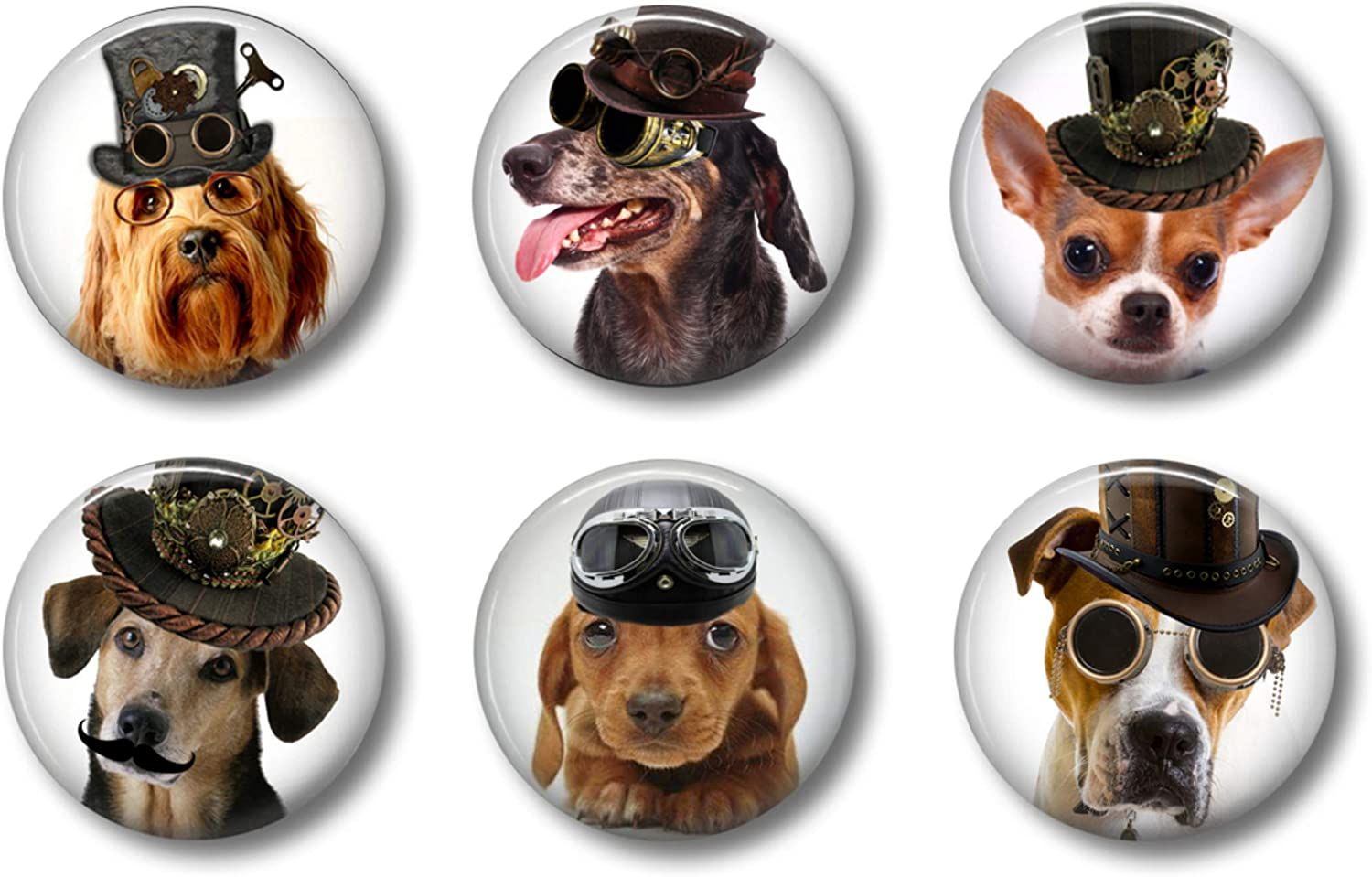 Dog Magnets: Cute Steampunk Dog Locker Magnets for Teens (Dogs)