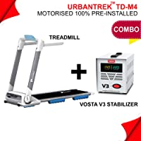Powermax Fitness - UrbanTrek TD-M4 - (2.0HP) 100% Pre-Installed, Flat Surface, Motorized Compact Treadmill with Android & iOS App