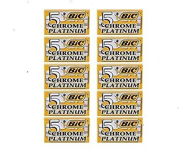 50 BIC Double Edge Razor Blades Chrome Platinum