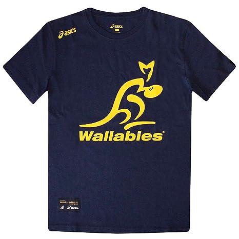 Wallabies - Camiseta Oficial de Australia Rugby World Cup Fans por Asics: Amazon.es: Deportes y aire libre