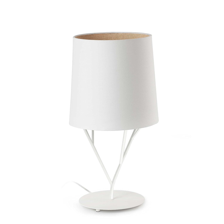 Faro Barcelona Tree 29867 – Desktop und Lampen, 60 W, stahl und Textil, weiß