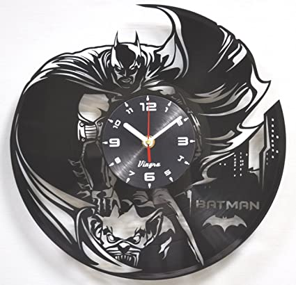 Batman Vinyl Clock Home Decor Art Record Wall Clock Superhero Comics Decorations Unique Nursery Wall Art