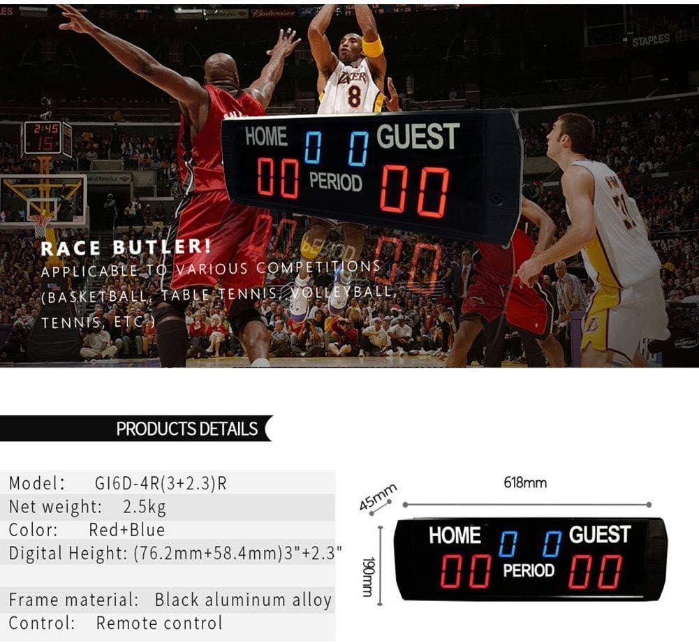 Bnineteenteam Anzeigetafel mit 2//3//4-stelliger Anzeige Basketball Volleyball tragbarer Sportanzeigetafel-Z/ähler f/ür Tischtennis Fu/ßball