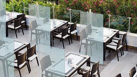 Mampara protectora mostrador - Mampara para oficinas transparente - Mampara plegable portátil (200x100cm) VERTICAL (1 unidades): Amazon.es: Oficina y papelería