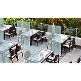 Mampara de protección | separador para restaurantes, bares, hosteleria (100x150cm): Amazon.es: Oficina y papelería