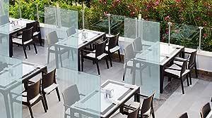 Mampara protectora mostrador - Mampara para oficinas transparente - Mampara plegable portátil (200x100cm) VERTICAL (1 unidad): Amazon.es: Oficina y papelería