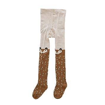 Wslcn Unisex Baby Kids Leggings Knit Cotton Stretch School Uniform