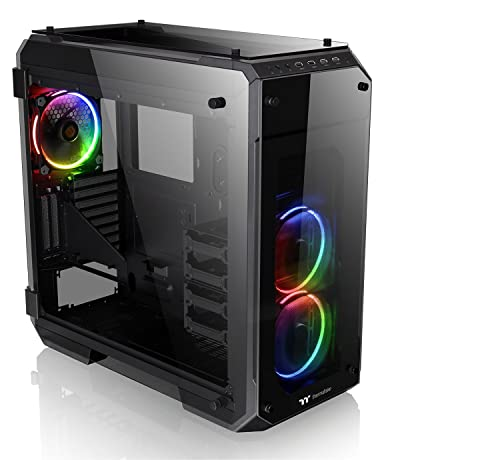 Thermaltake View 71 RGB 4-Sided Tempered Glass Vertical GPU Modular E-ATX Gaming Full Tower Computer Case