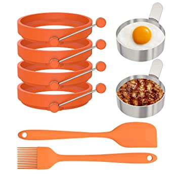 Ozera 6 Pack Pancake Egg Rings