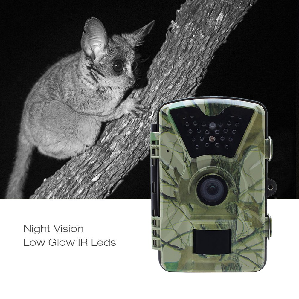 Lixada HD Wildlife Trail Camera Trap 12MP Infrared Cam with Night Vision, 120°Wide Angle Motion Activated 2.4in LCD Display for Outdoor Nature Garden Home Security Surveillance by Lixada (Image #7)