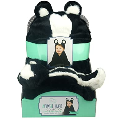 Little Miracles Animal Hugs Collection - Hooded Blanket with Plush, 2 Piece Set (Skunk): Toys & Games