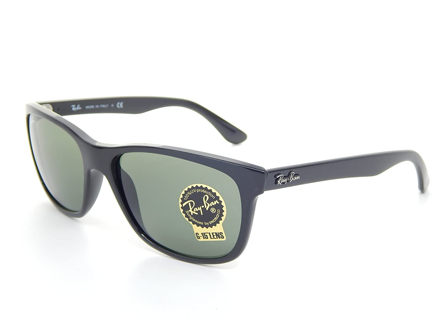 35a9542e086 Amazon.com  New Ray Ban RB4181 601 Black Crystal Green 57mm Sunglasses   Shoes