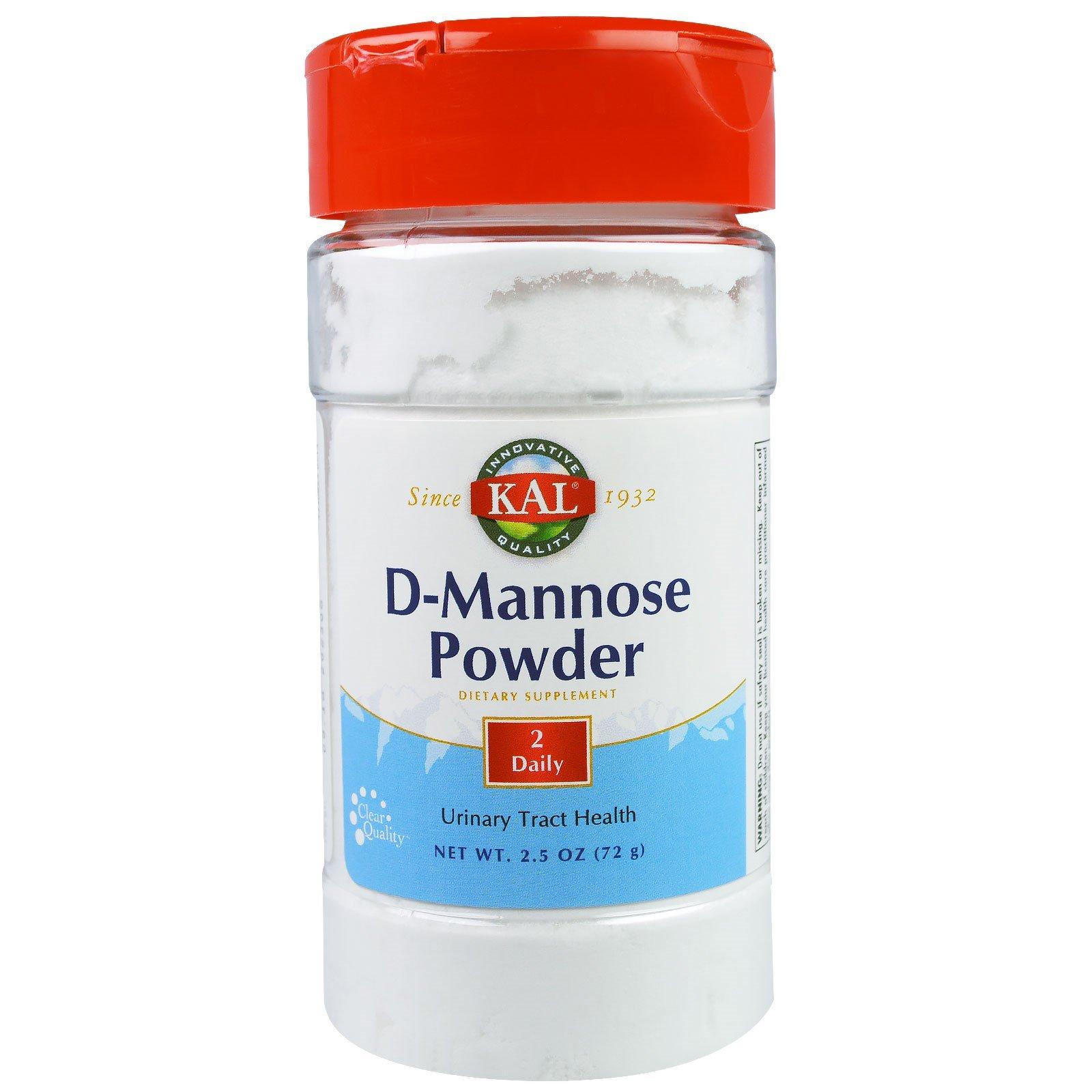 KAL, D-Mannose Powder, 2.5 oz (72 g)(Pack of 2)