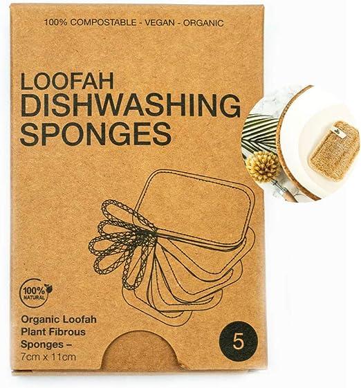 Esponjas orgánicas para lavar platos VECO – estropajo y exfoliante ...